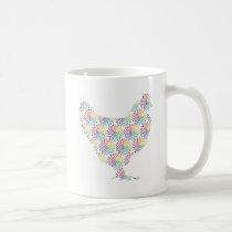 Pretty feminine chicken coffee mug