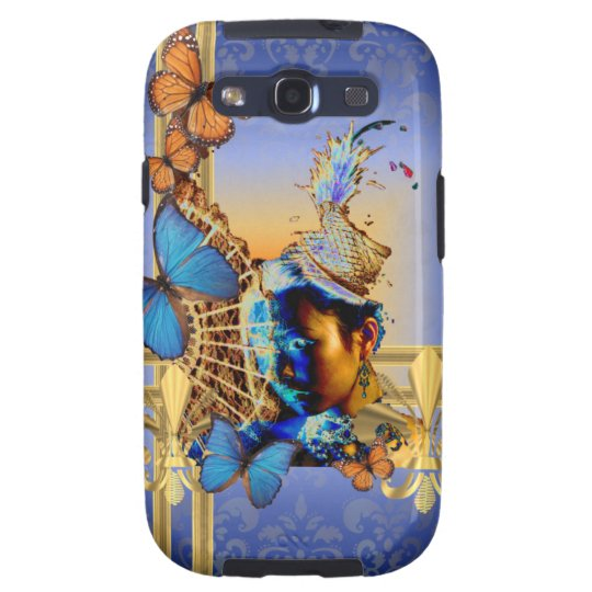 Pretty feminine girly design and butterflies galaxy s3 cover