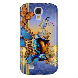 Pretty feminine girly design and butterflies samsung s4 case