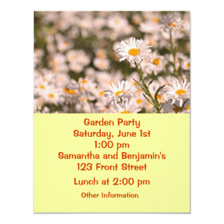 "Pretty Field of Daisies 4.25"" X 5.5"" Invitation Card"