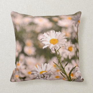 Pretty Field of Daisies Throw Pillow