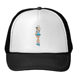 pretty figure skating princess graphic mesh hats