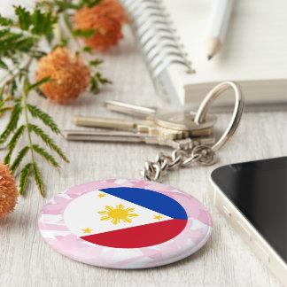 Pretty Filipino Souvenir Basic Round Button Keychain