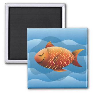 Pretty fish 2 inch square magnet