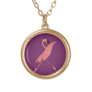 Pretty Flamingo Gold Plated Necklace