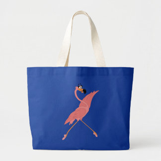 Pretty Flamingo Large Tote Bag
