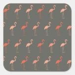 Pretty Flamingo Square Sticker