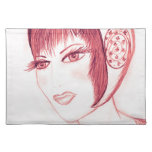 Pretty Flapper in Red Placemats