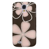 pretty floral 3 casing samsung galaxy s4 case