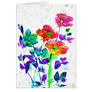 Pretty Floral Art Notecards Or Greeting Cards
