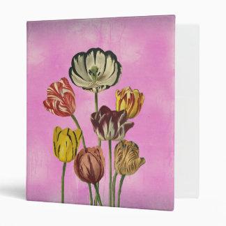 Pretty floral art on pink wash background binder
