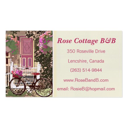 Pretty Cottage Garden Bed and Breakfast Business Cards