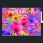 """Pretty floral birthday Card<br><div class=""""desc"""">Pretty birthday card with beautifully colored flowers</div>"""