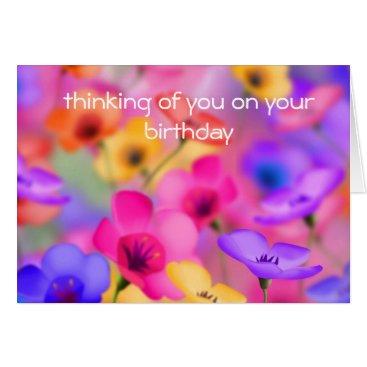 siberianmom Pretty floral birthday Card