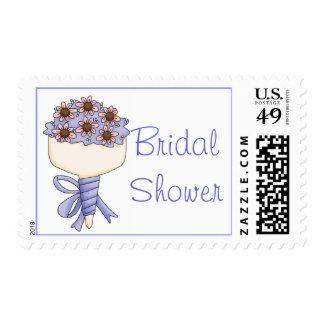 Pretty Floral Bouquet Bridal Shower Stamp