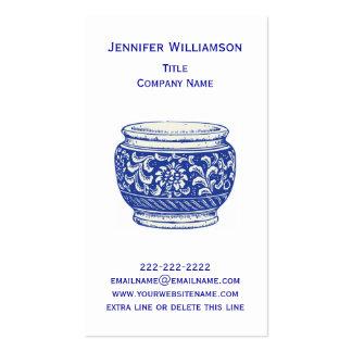 Pretty Floral CACHEPOT Elegant Flower Pot Bowl Business Card Template
