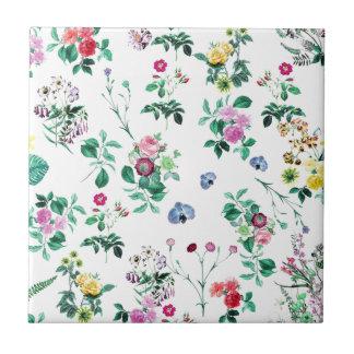 Pretty Floral Ceramic Tile