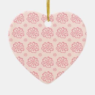 Pretty Floral Design Ceramic Ornament