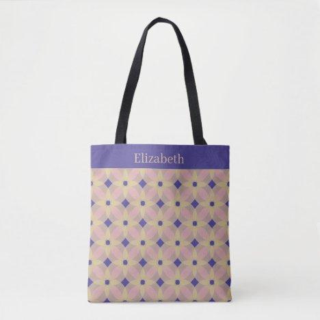 Pretty Floral Geometric Tote Bag