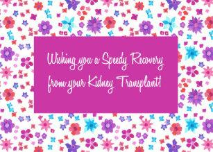 Kidney transplant cards zazzle pretty floral get well from kidney transplant card m4hsunfo