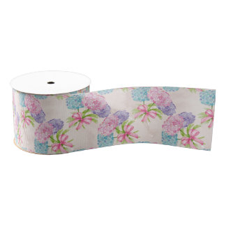 Pretty Floral Grosgrain Ribbon