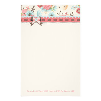 Pretty Floral Header Custom Stationery