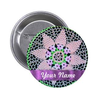 pretty floral lace button