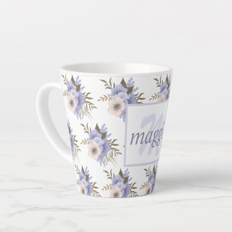 Pretty Floral Latte Mug