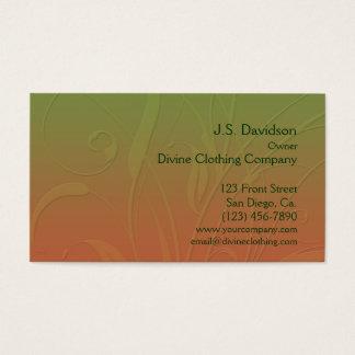 Pretty Floral Leaf Design Business Card