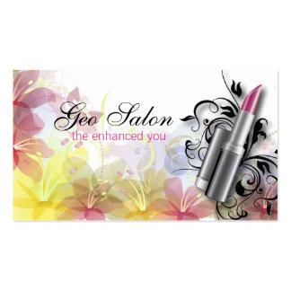 Pretty Floral Makeup Artist Salon Business Card
