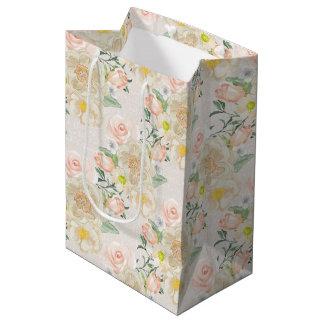 Pretty Floral Medium Gift Bag