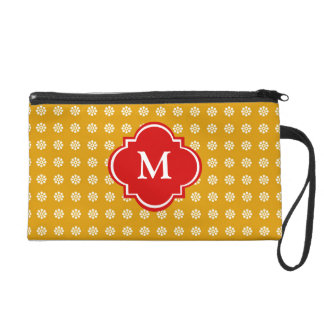 Pretty Floral Monogram Wristlet Gift for Her