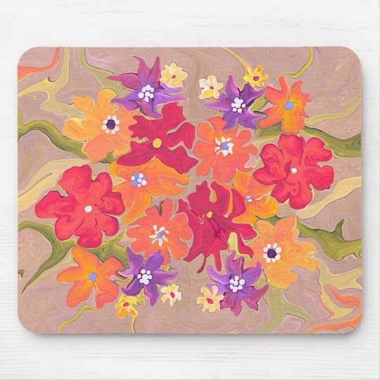 Pretty floral painting in bright colors mouse pad