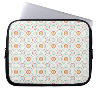 Pretty Floral Pattern Laptop Sleeve