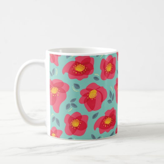 Pretty Floral Pattern With Bright Pink Petals