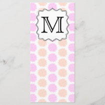 Pretty Floral Pattern with Custom Monogram Letter.