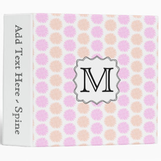 Pretty Floral Pattern with Custom Monogram Letter. 3 Ring Binder