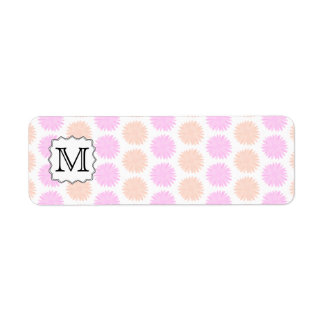 Pretty Floral Pattern with Custom Monogram Letter. Label