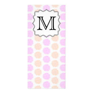 Pretty Floral Pattern with Custom Monogram Letter. Rack Card