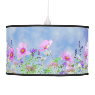 PRETTY FLORAL PENDANT LAMP