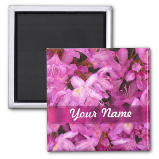 Pretty floral personalized magnet