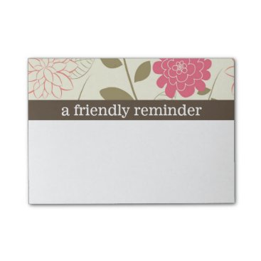 Beach Themed Pretty Floral Post-it Notes
