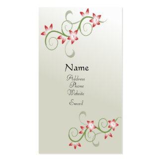 Pretty Floral Profile card