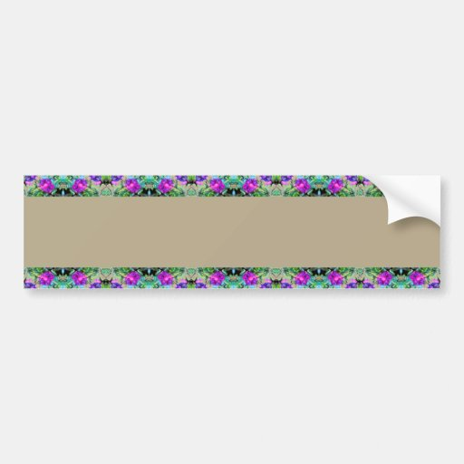 Pretty Floral Purple Morning Glories Watercolor Bumper Stickers