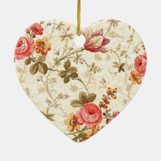 pretty floral standard ceramic ornament