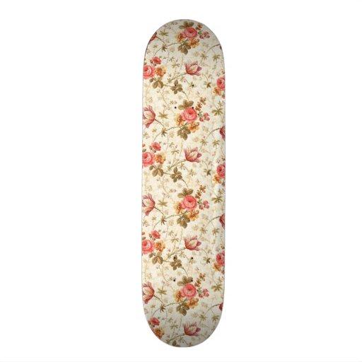 pretty floral standard skateboard deck