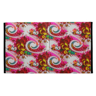 Pretty Floral Swirls Hot Pink Fractal Unique Gifts iPad Case