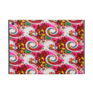 Pretty Floral Swirls Hot Pink Fractal Unique Gifts iPad Mini Covers