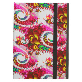 Pretty Floral Swirls Hot Pink Fractal Unique Gifts iPad Cases