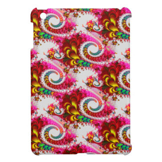 Pretty Floral Swirls Hot Pink Fractal Unique Gifts Case For The iPad Mini